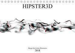 HIPSTER3D white – Design der dritten Dimension (Tischkalender 2018 DIN A5 quer) von Rieger,  Martin