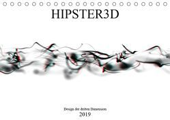 HIPSTER3D white – Design der dritten Dimension (Tischkalender 2019 DIN A5 quer) von Rieger,  Martin