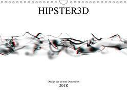 HIPSTER3D white – Design der dritten Dimension (Wandkalender 2018 DIN A4 quer) von Rieger,  Martin