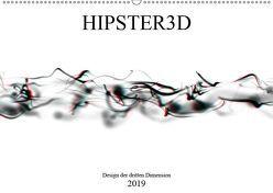 HIPSTER3D white – Design der dritten Dimension (Wandkalender 2019 DIN A2 quer) von Rieger,  Martin