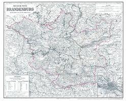 Hist. Karte: Provinz Brandenburg 1863 (plano) von Biedermann,  E., EYB,  O.F. v, Gräf,  Adolf
