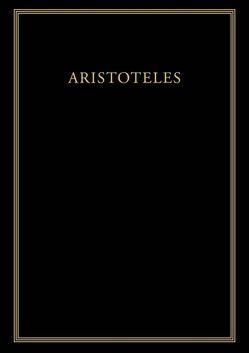 Aristoteles: Werke / Historia animalium von Epstein,  Katharina