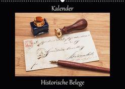 Historische Belege (Wandkalender 2018 DIN A2 quer) von Kirsch,  Gunter