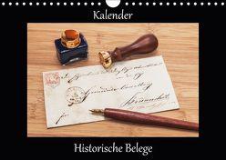 Historische Belege (Wandkalender 2018 DIN A4 quer) von Kirsch,  Gunter