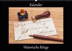 Historische Belege (Wandkalender 2019 DIN A2 quer) von Kirsch,  Gunter