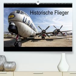 Historische Flieger (Premium, hochwertiger DIN A2 Wandkalender 2021, Kunstdruck in Hochglanz) von Steffin,  Carsten