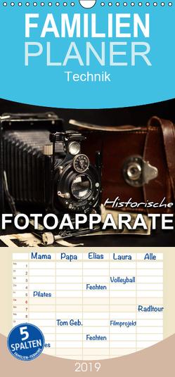 Historische Fotoapparate – Familienplaner hoch (Wandkalender 2019 , 21 cm x 45 cm, hoch) von Bleicher,  Renate