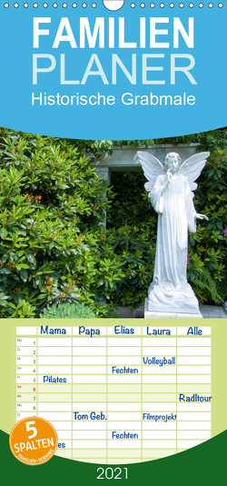 Historische Grabmale – Familienplaner hoch (Wandkalender 2021 , 21 cm x 45 cm, hoch) von E. Hornecker,  Heinz