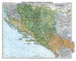 Historische Karte: BOSNIEN, HERZEGOWINA, MONTENEGRO und DALMATIEN 1913 [gerollt] von Handtke,  Friedrich, Rockstuhl,  Harald