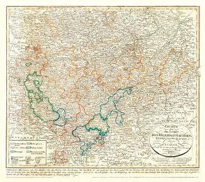Historische Karte: Charte über die Länder des Herzoglich Sachsen-Ernestinischen Hauses, 1815 (Plano) von Güssefeld, Franz L, Rockstuhl, Harald