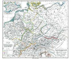 Historische Karte: DEUTSCHLAND – ALTGERMANIEN, um 450 (Plano) von Rockstuhl,  Harald, Spruner,  Karl von