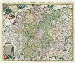 Historische Karte: Deutschland – Das Heilige Römische Reich 1740 (Plano) von Jaillot,  H