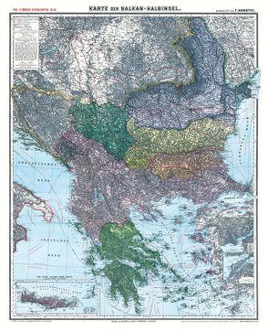 Historische Karte: Die BALKAN Halbinsel – um 1910 [gerollt] von Handtke,  Friedrich, Rockstuhl,  Harald