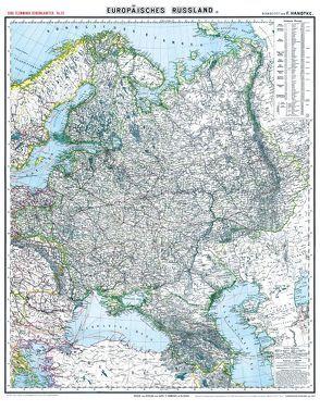 Historische Karte: EUROPÄISCHES RUSSLAND – um 1903 [gerollt] von Handtke,  Friedrich