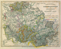 Historische Karte: Fürstentum Schwarzburg-Sondershausen und Fürstentum Schwarzburg-Rudolstadt nebst den Reussischen Landen 1851 [gerollt] von Major,  Radefeld, Rockstuhl,  Harald