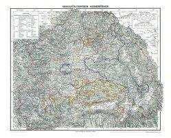 Historische Karte: Großherzogtum Siebenbürgen, 1853 (Plano) von Rockstuhl,  Harald