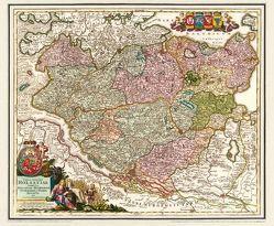 Historische Karte: Holstein mit den Herzogtümern Stormarn, Dithmarschen, Wagrien und Holstein im Jahr 1712 von Homann,  Johann B