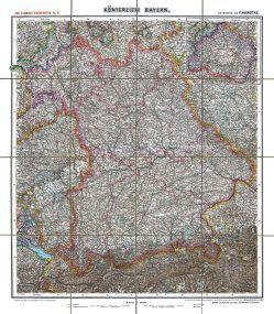 Historische Karte: KÖNIGREICH BAYERN – um 1900 [gerollt] von Handtke,  Friedrich, Rockstuhl,  Harald