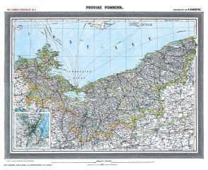 Historische Karte: Provinz POMMERN im Deutschen Reich – um 1903 [gerollt] von Handtke,  Friedrich, Rockstuhl,  Harald