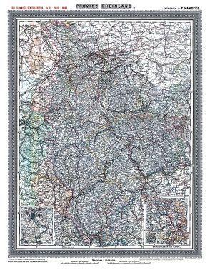 Historische Karte: Provinz RHEINLAND im Deutschen Reich – um 1903 [gerollt] von Handtke,  Friedrich