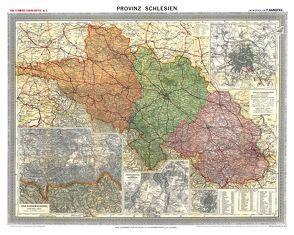 Historische Karte: Provinz SCHLESIEN im Deutschen Reich – um 1910 [gerollt] von Handtke,  Friedrich, Rockstuhl,  Harald