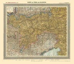 Historische Karte: TIROL und SALZBURG, um 1900 [gerollt] von Handtke,  Friedrich, Rockstuhl,  Harald