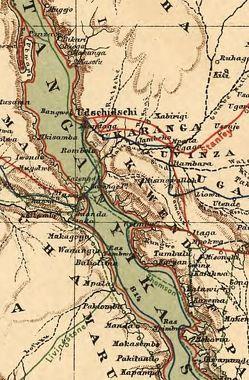 Historische Karte Zentral-Afrikas (ca. 1885)