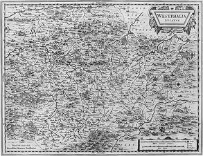 """Historische Landkarte """"Westphalia-Ducatus"""""""