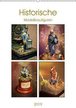 Historische Modellbaufiguren 2019 (Wandkalender 2019 DIN A2 hoch) von Hebgen,  Peter