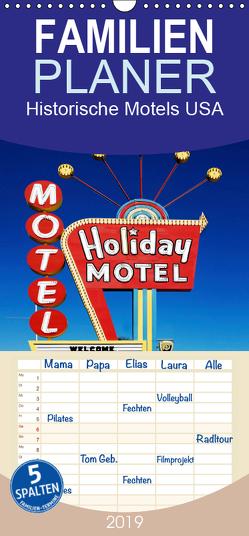 Historische Motels USA – Kultstätten jenseits der Highways – Familienplaner hoch (Wandkalender 2019 , 21 cm x 45 cm, hoch) von Robert,  Boris