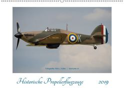 Historische Propellerflugzeuge 2019CH-Version (Wandkalender 2019 DIN A2 quer) von J. Koller 4Pictures.ch,  Alois