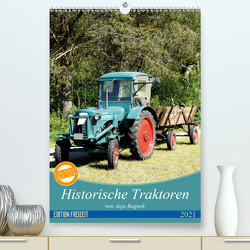 Historische Traktoren (Premium, hochwertiger DIN A2 Wandkalender 2021, Kunstdruck in Hochglanz) von Bagunk,  Anja