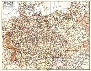 Historische Übersichtskarte: VERKEHRSKARTE VON GROSSDEUTSCHLAND 1940 von Rockstuhl,  Harald