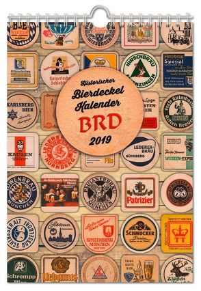 Historischer Bierdeckelkalender BRD 2019