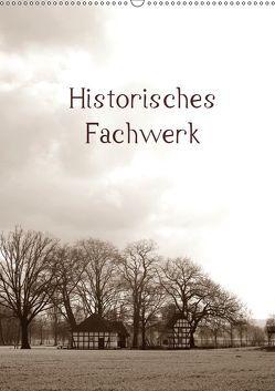 Historisches Fachwerk Terminkalender 2019 (Wandkalender 2019 DIN A2 hoch) von Riedel,  Tanja