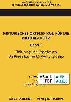 Historisches Ortslexikon für die Niederlausitz von Lehmann,  Rudolf