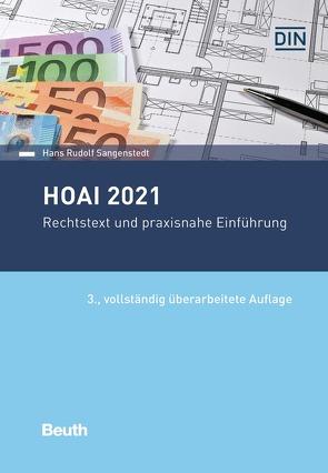 HOAI 2021 – Buch mit E-Book von Sangenstedt,  Hans Rudolf