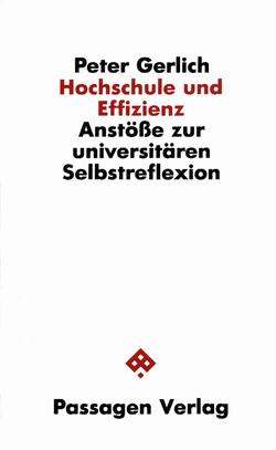 Hochschule und Effizienz von Gerlich,  Peter