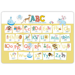 Hochwertiges ABC-Mini-Lernposter der Tiere (32,4 x 45,8 cm): Stabiler Karton, folienbeschichtet, abwischbar. von Wirth,  Lisa