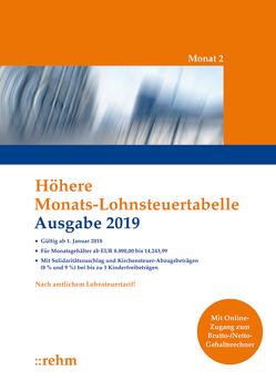 Höhere Monats-Lohnsteuertabelle 2019