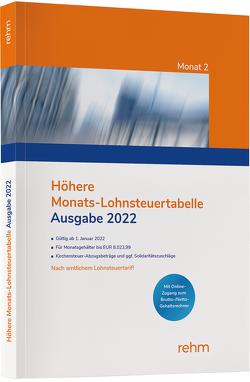 Höhere Monats-Lohnsteuertabelle 2022