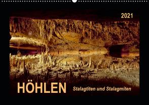 Höhlen, Stalaktiten und Stalagmiten (Wandkalender 2021 DIN A2 quer) von Roder,  Peter