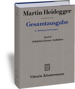 """Hölderlins Hymne """"Andenken"""" (Wintersemester 1941/42) von Heidegger,  Martin, Ochwadt,  Curd"""
