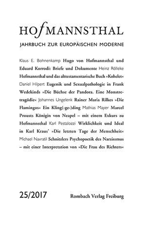 Hofmannsthal Jahrbuch zur Europäischen Moderne von Bergengruen,  Maximilian, Honold,  Alexander, Neumann,  Gerhard, Renner,  Ursula, Schnitzler,  Günter, Wunberg,  Gotthart