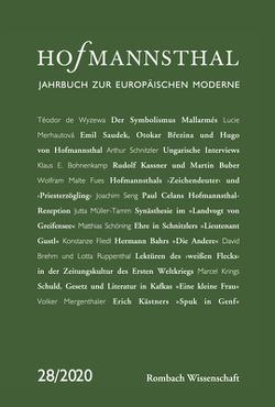 Hofmannsthal – Jahrbuch zur Europäischen Moderne von Bergengruen,  Maximilian, Honold,  Alexander, Renner,  Ursula, Schnitzler,  Günter