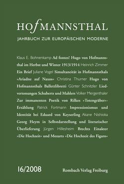 Hofmannsthal Jahrbuch zur Europäischen Moderne von Neumann,  Gerhard, Renner,  Ursula, Schnitzler,  Günter, Wunberg,  Gotthart
