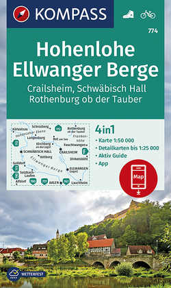 Hohenlohe, Ellwanger Berge, Crailsheim, Schwäbisch Hall, Rothenburg ob der Tauber von KOMPASS-Karten GmbH