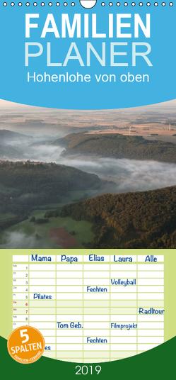 Hohenlohe von oben – Familienplaner hoch (Wandkalender 2019 , 21 cm x 45 cm, hoch) von Dietze,  Gerald