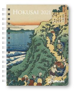Hokusai 2021 – Diary – Buchkalender – Taschenkalender – Kunstkalender – 16,5×21,6 von Hokusai,  Katsushika