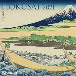 Hokusai 2021 – Wand-Kalender – Broschüren-Kalender – 30×30 – 30×60 geöffnet – Kunst-Kalender von Hokusai,  Katsushika